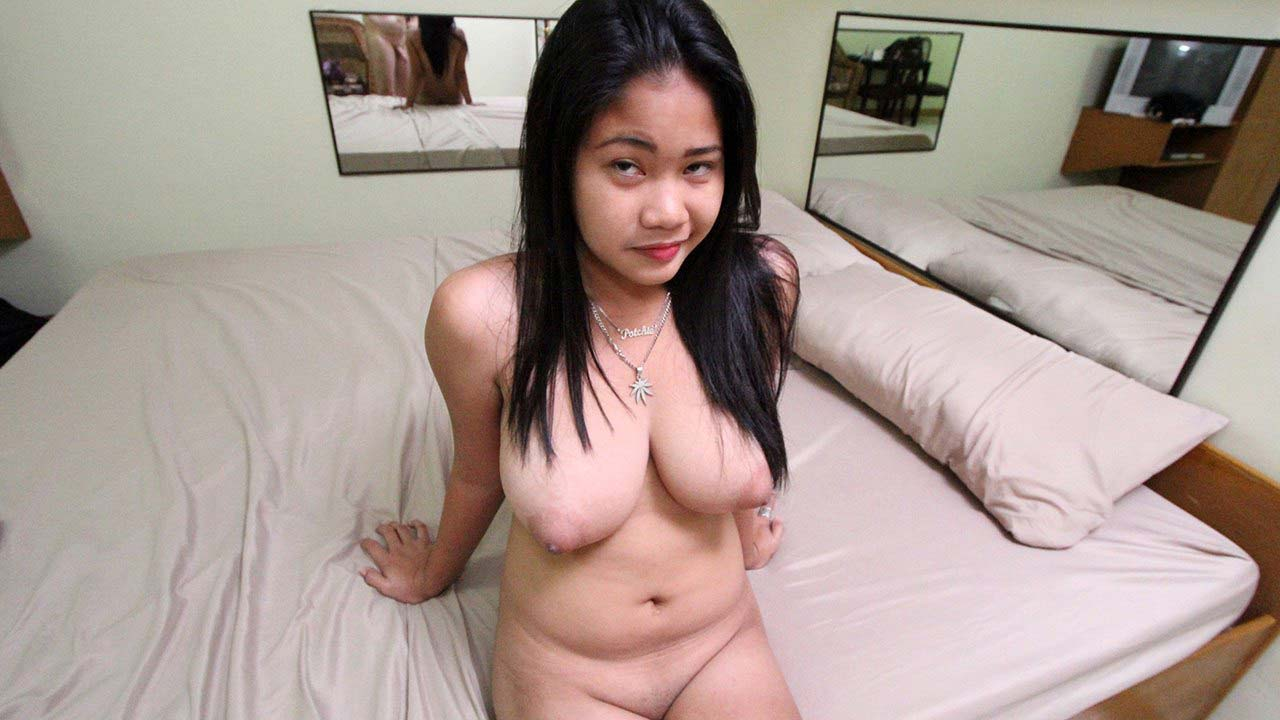 Potchie exposes her Asian Puffies and those huge boobs