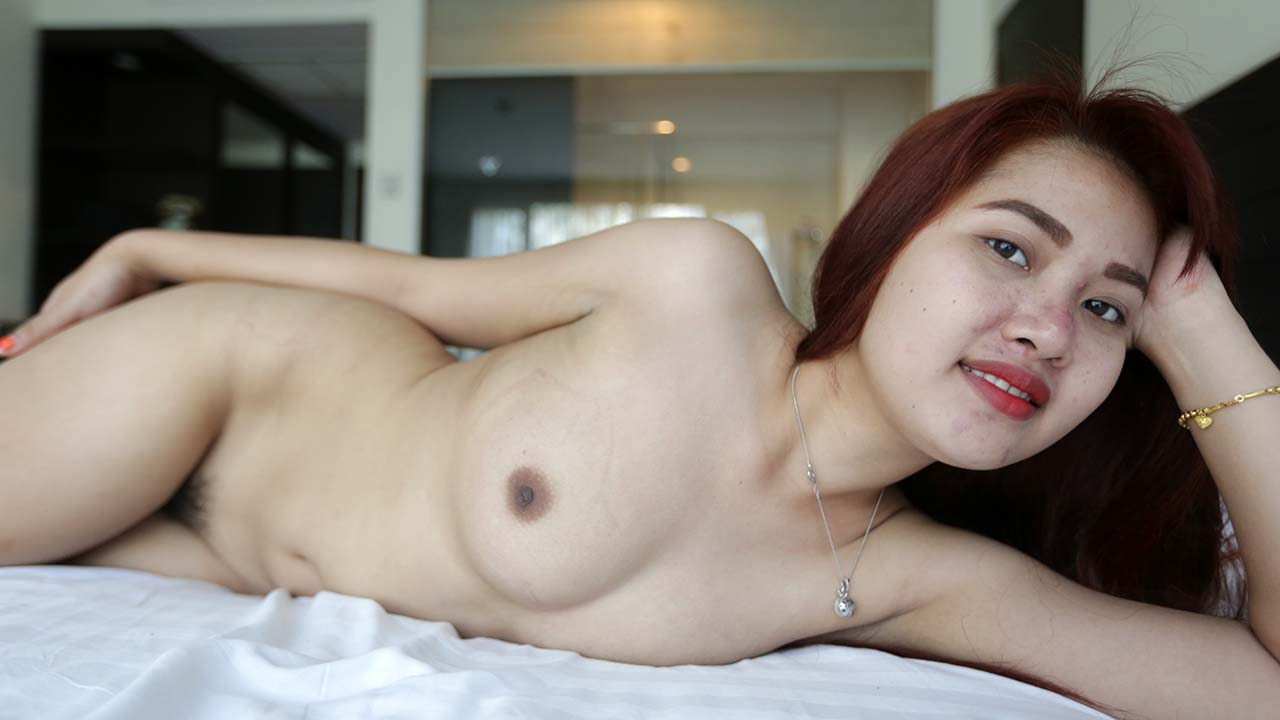 Asian Teenager with small soft boobs gets fucked in white dude's hotel room