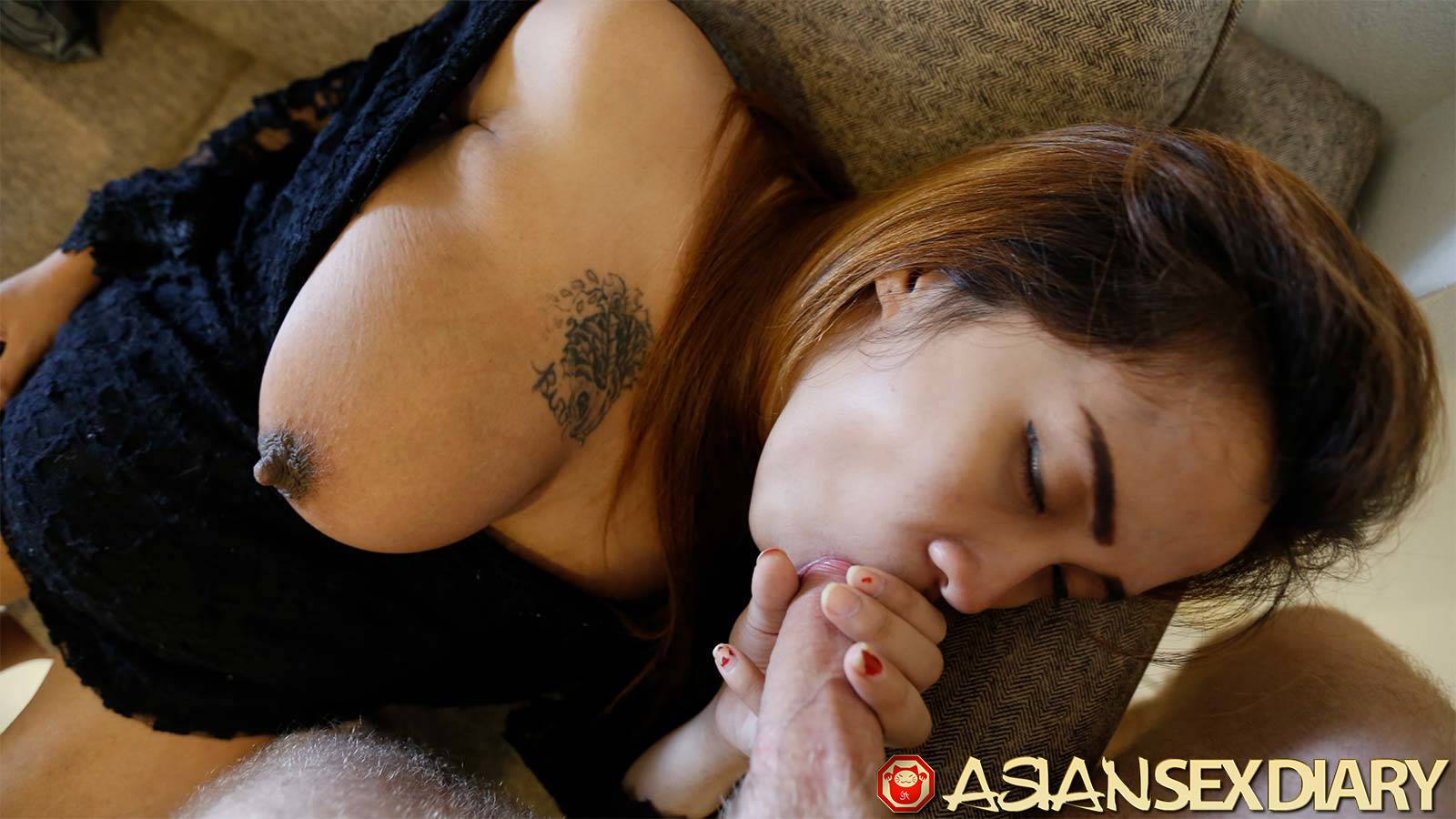 Giant asian tits blowjob — img 2