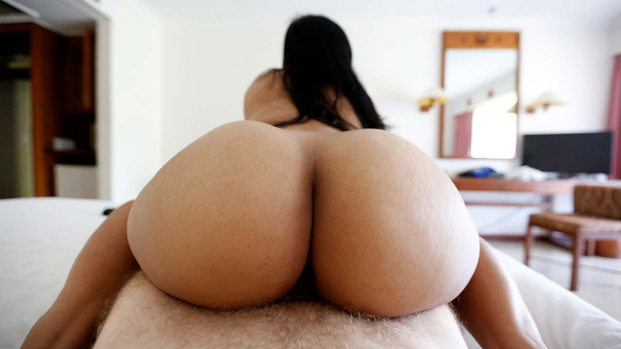 Brown bubble butt